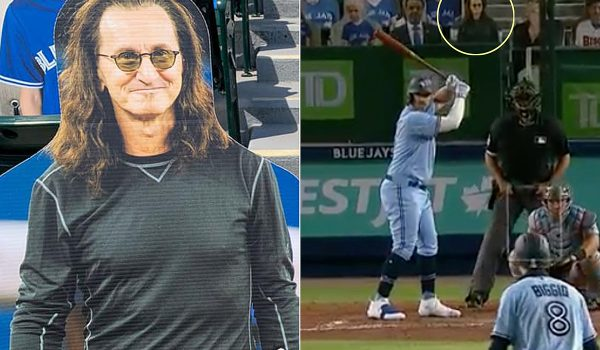 Rush's Geddy Lee Appears as Cardboard Cutout at Blue Jays Game