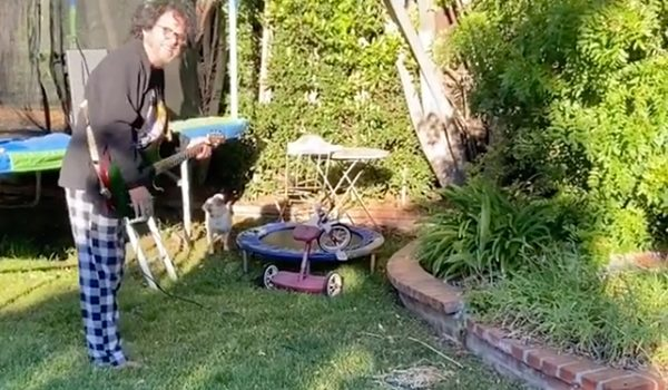 Watch Steve Lukather Battle Leaf Blowers With His Electric Guitar