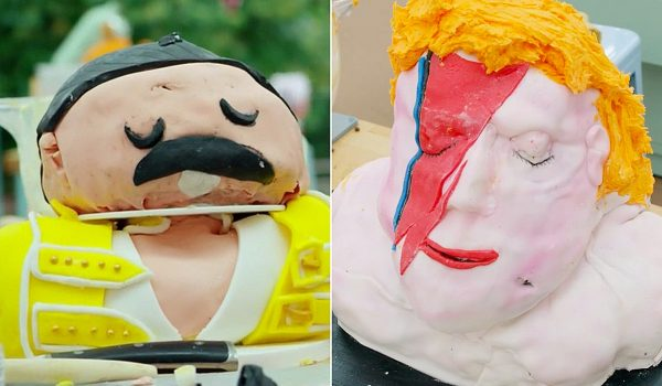 Freddie Mercury and David Bowie Inspire 'British Bake Off' Cakes